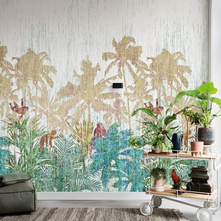 Jungle Patterned Mural