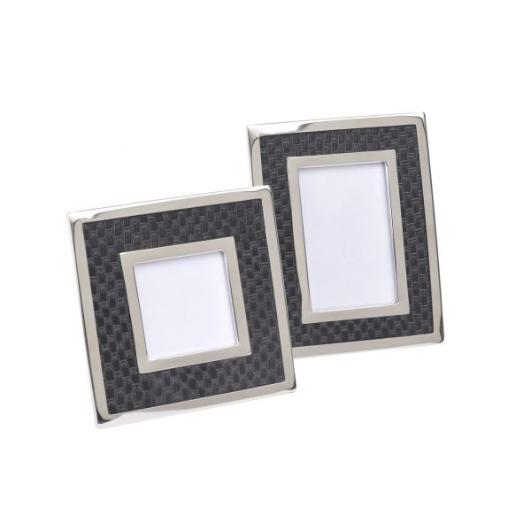 Benton Chrome & Black Photo Frames