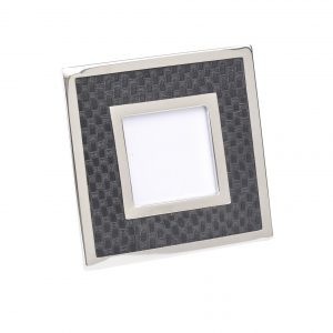 Benton Chrome & Black Square Photo Frame