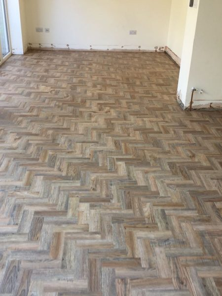 Luxury Vinyl Tile Herringbone Floor