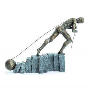 Strongman with Ball Bronze Scuplture