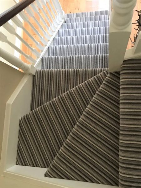 Crucial Trading Taupe Grey and Cream Stair Carpet