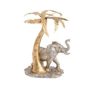 Elephant & Palm Tree