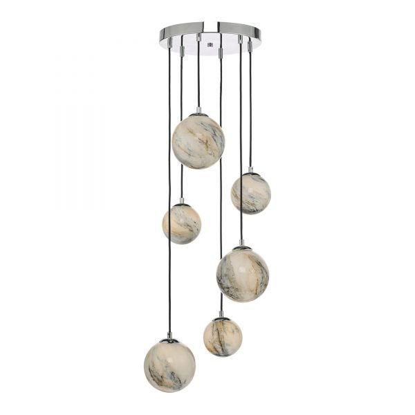 Marble Glass Ceiling Light