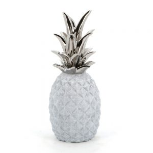 Stone Effect Pineapple with Chrome Leaves