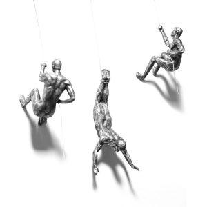 Silver Climbing Men Trio