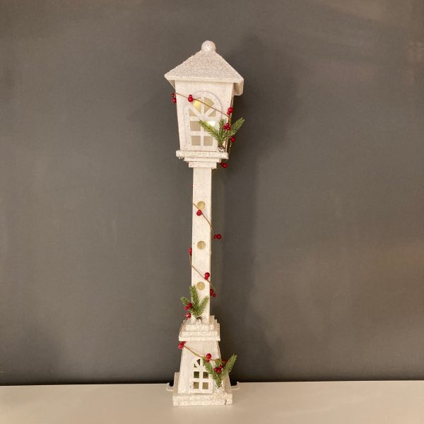 White Wooden Lamppost