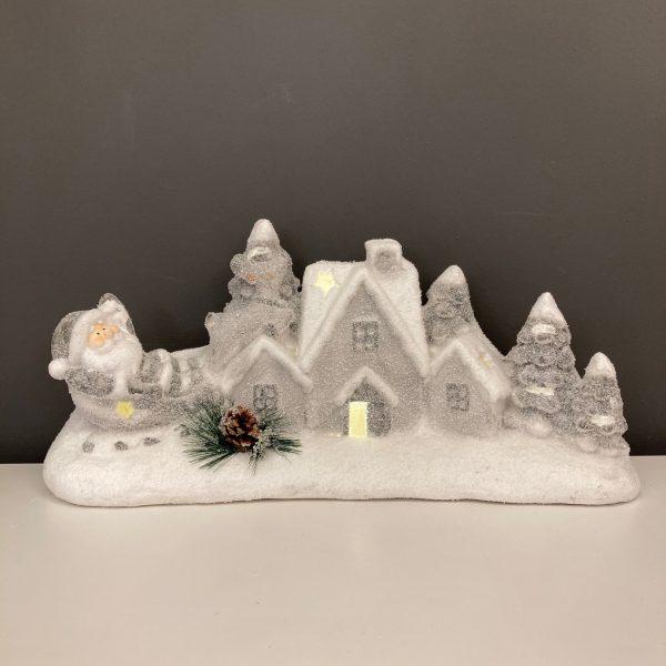 Christmas Village with Santa & Reindeer