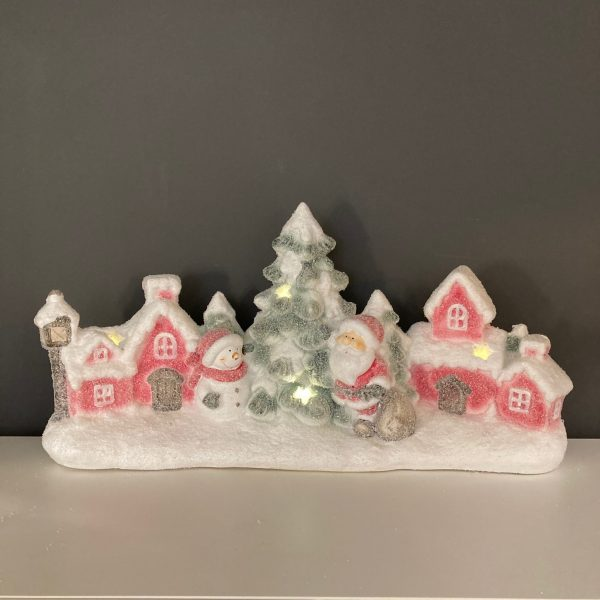 Christmas Village with Santa