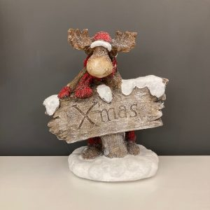 Reindeer with Sign