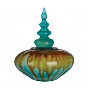 Stoneware Aqua Jar