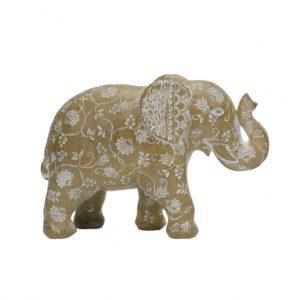 Elephant Figurine Patterned