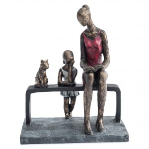 Mother with Daughter and Cat